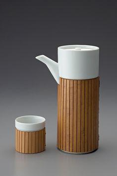 Masahiro Mori Coffee set rolled with bamboo