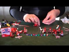 ▶ Christmas elves - Polymer (Fimo) clay tutorial - YouTube