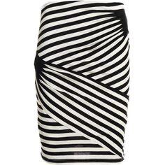 Reiss Daphne Stripe Tuck Skirt (6.555 RUB) ❤ liked on Polyvore featuring skirts, bottoms, stripes, saias, stripe skirt, reiss, striped skirt, reiss skirts and stretchy skirt
