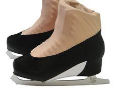 Black High Heel Skate Boot Cover / Figure Skating / Ice Skating / Roller Skating by Sk8Gr8Designs on Etsy https://www.etsy.com/listing/236678319/black-high-heel-skate-boot-cover-figure