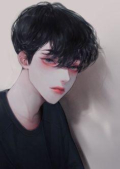 The main character always ends up with the male lead? Manga Anime, Fanarts Anime, Manga Boy, Anime Art, Korean Anime, Korean Art, Handsome Anime Guys, Cute Anime Guys, Anime Boys