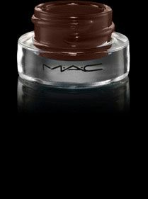MAC Fluidline Gel Eyeliner in Dip Down - my current favorite.  Will never go back to pencil liners!