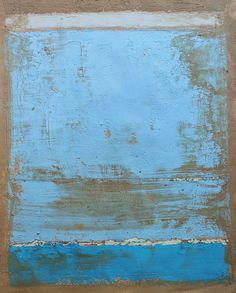 Christian Hetzel, Bild 1037 blue grey painting, 30x40 cm, mixed  mediapaper, 2013
