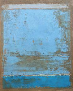 Christian Hetzel, Bild 1037 blue grey painting, 30x40 cm, mixed  mediapaper, 2013
