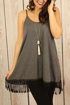 Slip Into Something Comfy Tunic in Charcoal