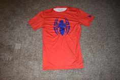 Under Armour Spiderman Alter Ego Compression Mens Graphic T-Shirt Size Large L #UnderArmour #ShirtsTops