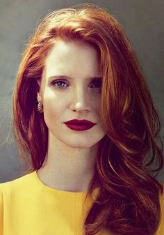 Red hair and red lipstick.  My goal is to be able to pull this off.