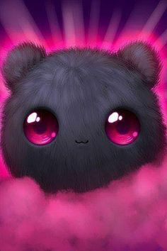 I absolutely love this adorable fluff-ball. I could stare at it all day before I go to work. Cute Wallpaper For Phone, Cute Disney Wallpaper, Kawaii Wallpaper, Cute Cartoon Wallpapers, Cute Wallpaper Backgrounds, Wallpaper Desktop, Girl Wallpaper, Wallpaper Quotes, Cute Animal Drawings