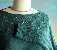 My mother told me that she'd like me to design a sweater for her to knit … a pullover with a boat neck and a little lace on the yoke and the sleeves, nothing too complicated … well, her wish is my command!