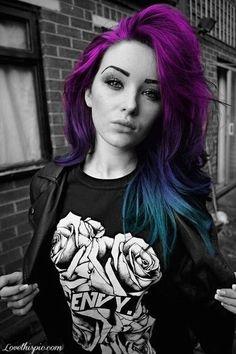 Bold Beautiful Hair - #boldhair #colorfulhair #brighthair #hairinspiration #purplehair #greenhair #bluehair - Love beauty? Go to bellashoot.com for beauty inspiration!