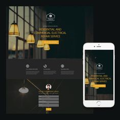 Responsive business site template.