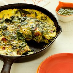 Dang this looks good! (frittata with ricotta and mixed greens recipe)