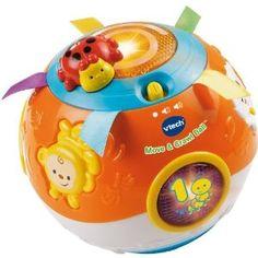 VTech Move and Crawl Ball, Orange -   - http://babyentry.com/baby/baby-toddler-toys/balls/vtech-move-and-crawl-ball-orange-com/