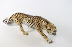 Ronzan Keramik Figur Gepard handgemalt Italy 20.Jh