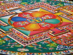 Buddhist mandala sand art