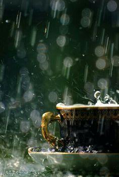 Lluvia y un cafe