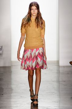 Peter Som Spring 2013 - Also loving this look and the colours in this patterned floaty skirt.