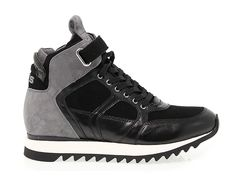 f01a5fd7ff8 SNEAKERS CESARE PACIOTTI 4US FD9 Sneakers in suede leather, colour steel  black with strap,
