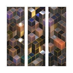 "Digital art ""Future Cities"" Canvas Art Stretched Canvas Print"
