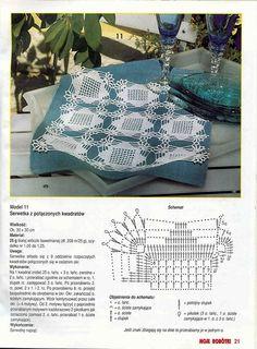 """Photo from album """"Moje robotki on Yandex. Crochet Doily Diagram, Crochet Stitches Patterns, Crochet Motif, Stitch Patterns, Crochet Table Runner, Crochet Tablecloth, Crochet Dollies, Crochet Flowers, Pinterest Diy Crafts"""