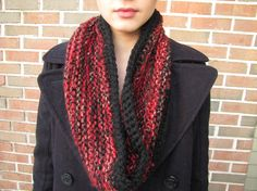 Cayenne Red Valentine's INFINITY SCARF by PlethoraGifts on Etsy