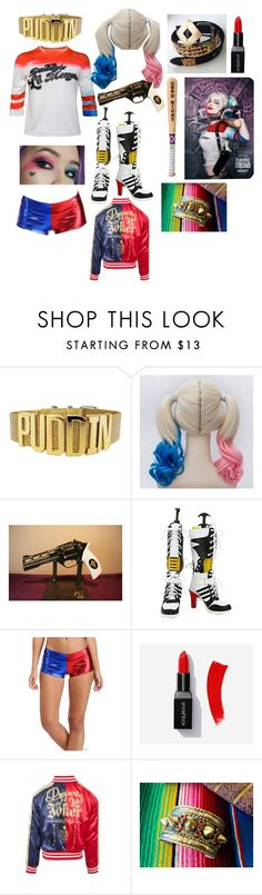 """""""Harley Quinn  Inspired Halloween Costume👻👻"""" by dirtydiana14 ❤ liked on Polyvore featuring Halloween, joker, harleyquinn, SuicideSquad and outfitb"""