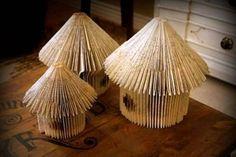 christmas craft ideas: houses made of old books | make handmade, crochet, craft