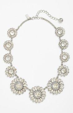 A sparkly floral necklace for a bride | Kate Spade