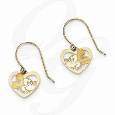 Always trying to make and find the good stuff! 14k Disney Mickey Heart Dangle Wire EarringsBy Paul Michael Design. Available at www.Geek.jewelry  #Jewelry #geekdotjewelry #PaulMichaelJewelry #HandMade #popculture #Designer #Creative #Unique #YouAreSpecial #Geek