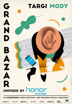 Grand Bazar poster set - Fashion posters maded for events of The TFH concept in Warsaw - Illustration Photo, Graphic Design Illustration, Illustration Fashion, Poster Design Inspiration, Event Poster Design, Fashion Wallpaper, Typography Design, Layout Design, Diy Design