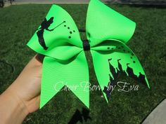 Cheer Bows with Cut-Out Shapes