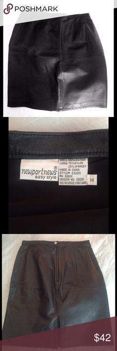 Spotted while shopping on Poshmark: Ladies Genuine Leather Skirt! #poshmark #fashion #shopping #style #Newport News #Dresses & Skirts
