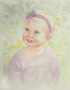 Watercolor Portrait by Sarah Pogue