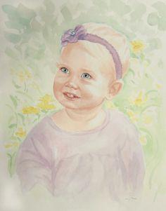 Watercolor Portrait by Sarah Pogue