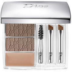 Dior All-In-Brow 3D Long-Wear Brown Contour Kit, 0.26oz ($52) ❤ liked on Polyvore featuring beauty products, makeup, eye makeup, blonde, christian dior, eyebrow kit, brow kit, eye brow kit and eyebrow makeup