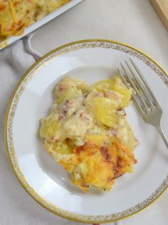 Patatas gratinadas con bechamel Bechamel, Cooking Time, Macaroni And Cheese, Side Dishes, Food And Drink, Menu, Eggs, Treats, Homemade