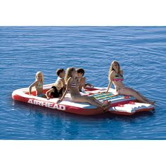 NEED THIS! Overton's : Airhead Cool Island - Watersports > Lake & Pool Leisure > Party Island Floats : Lake Toys, Lake Rafts, Water Toys, Floating Decks, Rafts