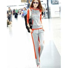 Set: Color-Block Hooded Pullover + Color-Block Sweatpants from #YesStyle <3 Ando Store YesStyle.com