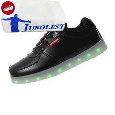 [Present:kleines Handtuch]Silber EU 39, 43, Sportschuhe USB-Lade Silber) (Größe Damen JUNGLEST® Glow weise LED Flashing Turnschuhe Unisex Schuhe