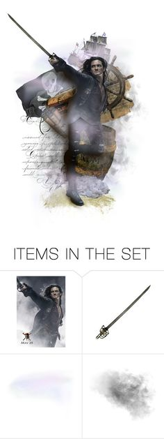 """""""Flying Dutchman"""" by triciamcmillan ❤ liked on Polyvore featuring art, pirate, triciamcmillan, pirates of the carribean, orlando bloom and paper dolls"""