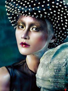 Beauty Editorial Gothic Elegance for Vogue Korea October 2012 1