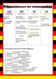 Welcome to German – prepositions for times. Study German, German English, Learn German, Learn French, German Grammar, German Words, German Resources, Deutsch Language, Germany Language
