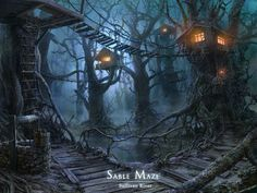 treehouses by ~VityaR83 on deviantART