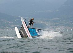 Sailing a HObie Cat 16 is not just about sitting !