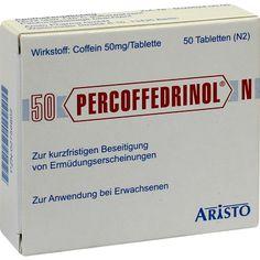 PERCOFFEDRINOL N Coffein Tabletten:   Packungsinhalt: 50 St Tabletten PZN: 02756802 Hersteller: Aristo Pharma GmbH Preis: 5,64 EUR inkl.…