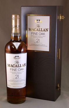 Macallan Fine Oak 21 years old Cigars And Whiskey, Whiskey Cocktails, Scotch Whiskey, Bourbon Whiskey, Whiskey Bottle, Whiskey Girl, Bourbon Drinks, Irish Whiskey, Booze Drink