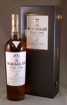 Macallan Fine Oak 21 years old Booze Drink, Whiskey Cocktails, Alcoholic Drinks, Liquor Drinks, Bourbon Drinks, Drinks Alcohol, Cigars And Whiskey, Scotch Whiskey, Whiskey Bottle