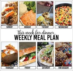 Weekly Meal Plan from your favorite bloggers! They do all the planning for you. Even give you a shopping list you can fill in with what you need! \ www.thirtyhandmadedays.com