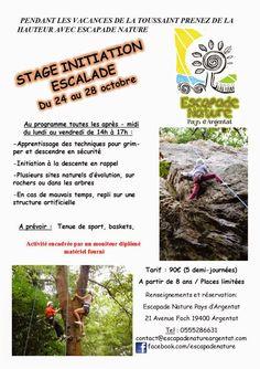 Stage Escalade Vacances de la Toussaint 2014