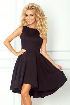 0e3ca4a816 Exclusive Black Asymmetrical Skirts Sleeveless Longer Back Mini Dress